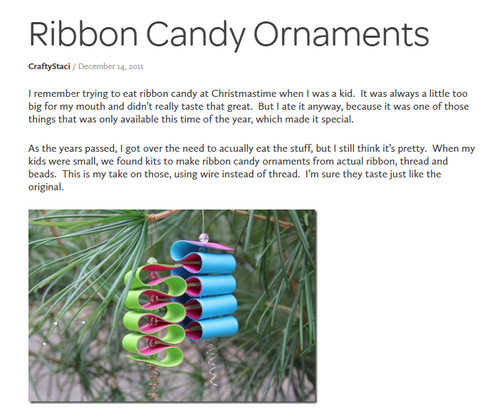 Twirly ribbon ornament