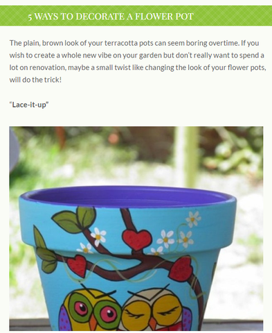 Ways to decorate a flower pot