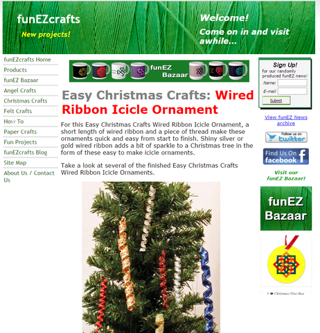 Wired Ribbon Icicle Ornament