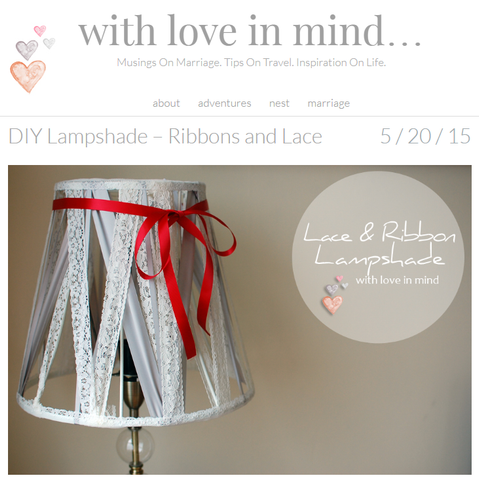 DIY Lampshade – Ribbons and Lace