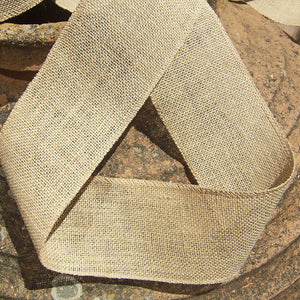 4 inch Burlap Ribbon. 50 Yards