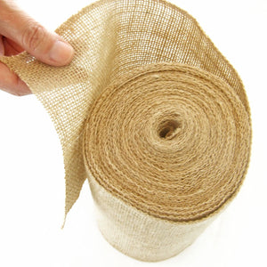 6 inch Burlap Ribbon. 10 Yards