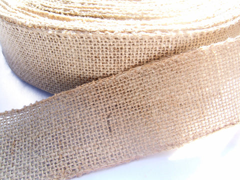 2 Inch Burlap Ribbon. Huge 50 Yards Roll