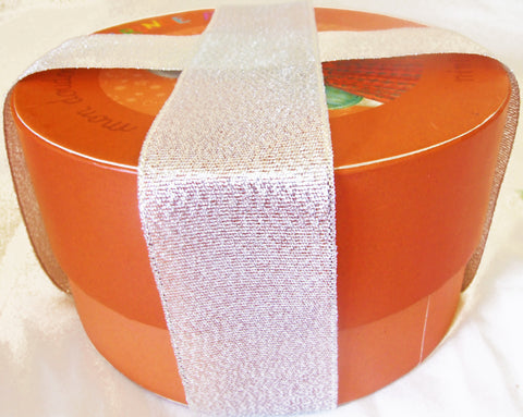 Double Face 1.5 Metallic Ribbon. 50 Yards (Golden, Silver...)