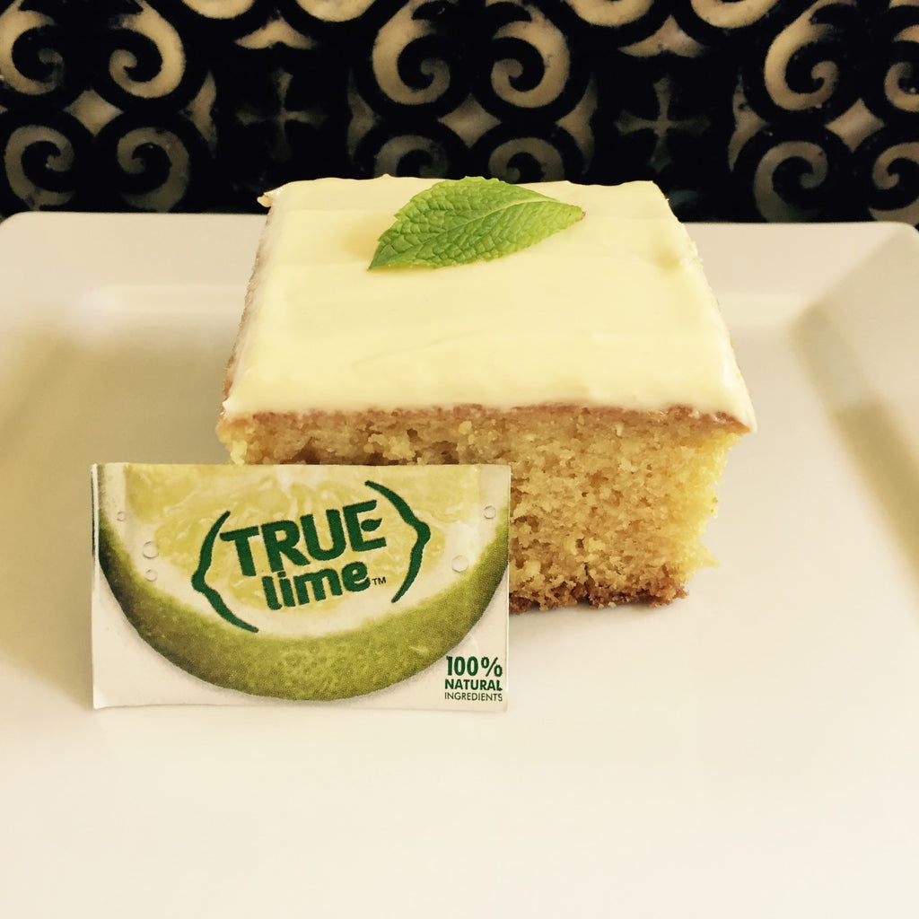 True Lime & Coconut Cake with True Lime Cream Cheese Icing.