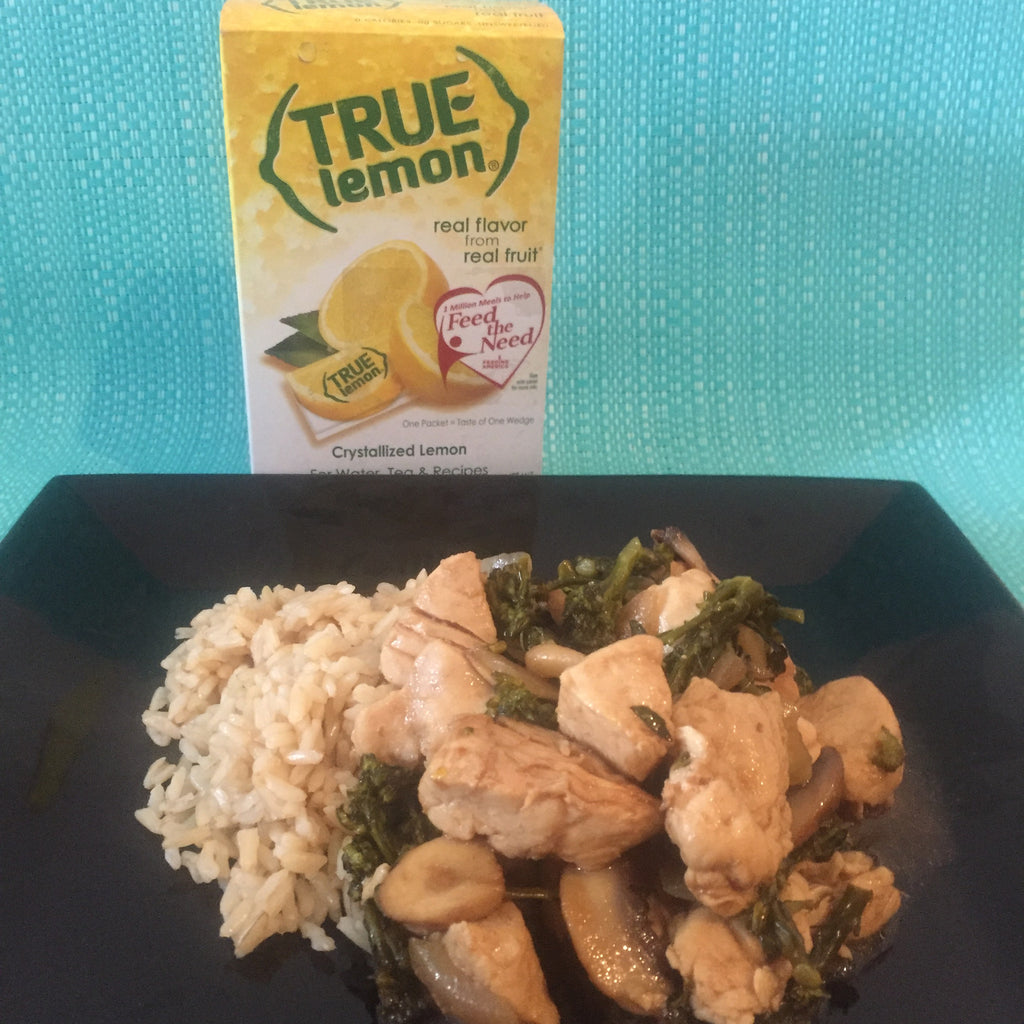 True Lemon Chicken & Broccolini Stir Fry.