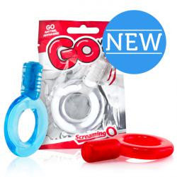 GO Vibe ring - (Red, Blue & Clear) - Disposible Fun