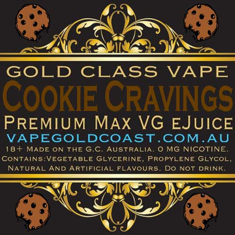 Gold Class Vape - Cookie Cravings (Choc Chip Cookie) - Vape Gold Coast