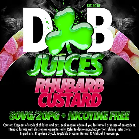 D&B Juice - Rhubarb Custard