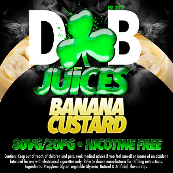 D&B Juice - Banana Custard - Vape Gold Coast