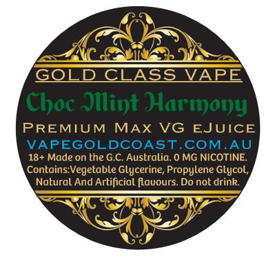 Gold Class Vape - Choc Mint Harmony (Choc Mint Slice) - Vape Gold Coast