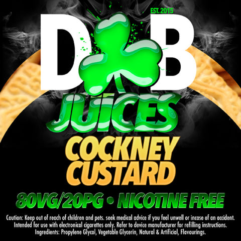D&B Juice - Cockney Custard - Vape Gold Coast