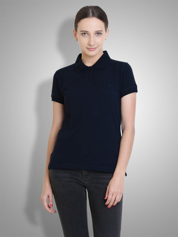 Polo Nation Women's Polo  (Navy Blue)