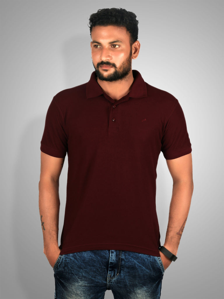Polo Nation Men's Polo (Wine Red)