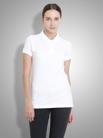 Polo Nation Women's Polo (White)