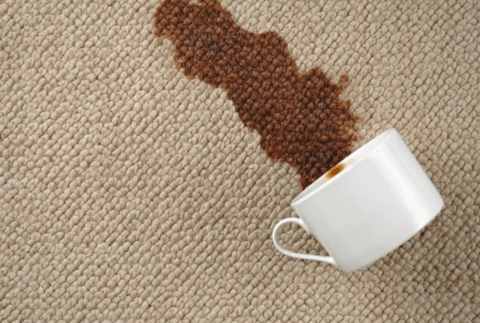 Coffee stains - How to clean stains on the carpet?