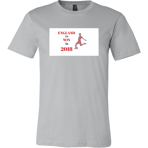 "Mens Tee ""England to Win in 2018"" World Cup 2018 Support Tee Shirt"