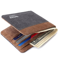 Mens Handmade Canvas Bilfold Wallet