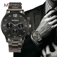 Mens Sports Watch - Metal Band, Luxury