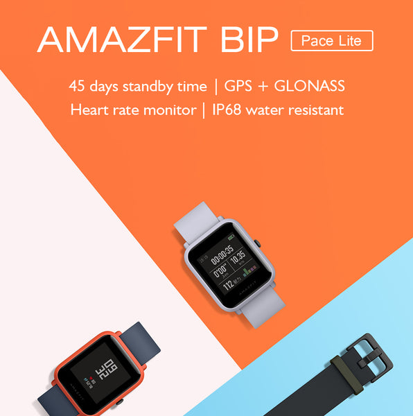 Xiaomi Amazfit Bip Smartwatch Pace Lite Bluetooth 4.0 GPS Heart Rate IP68