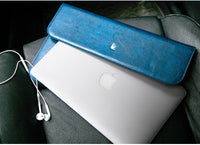 Mens Leather Macbook / Macbook Air Laptop Sleeve 11 - 13 Inch