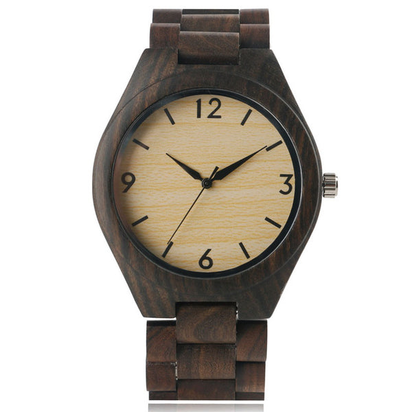 Mens Bamboo Handmade Wooden Watch