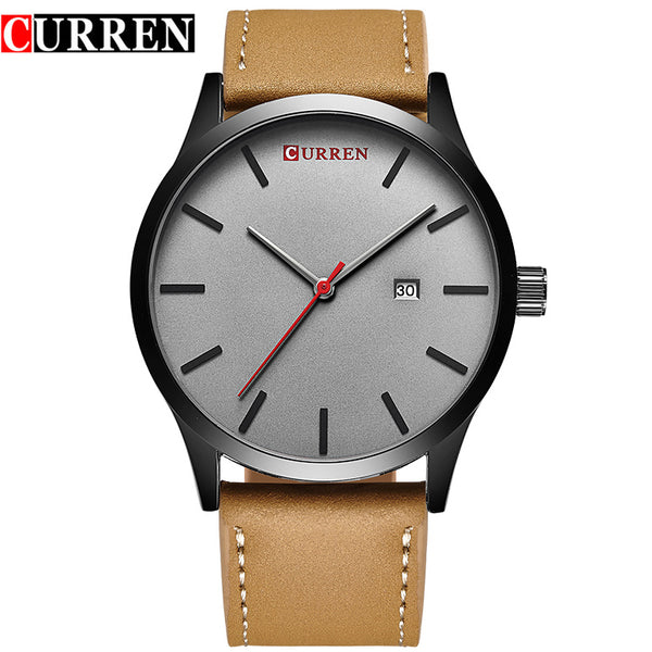 Mens Classic Leather Strap Watch