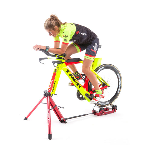 Feedback Sports Omnium Portable Cycle Trainer with Bicycle and Rider