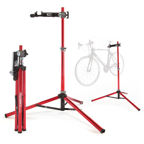 Feedback Sports Ultralight Bike Repair Stand Full Length and Folded With Ghost Bike