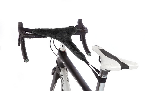 Feedback Sports Omnium Cycle Trainer Sweat Guard on Scott Road Bike