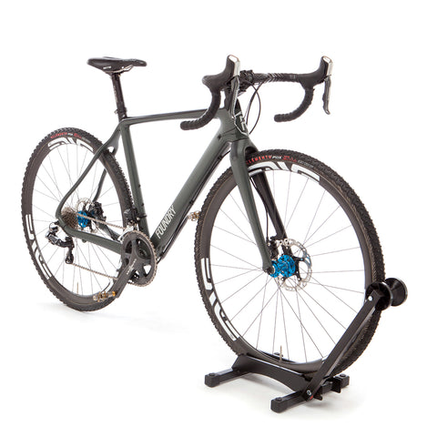 Feedback Sports RAKK Black Home Bike Storage Solution Holding Front Wheel of Cyclocrossr Bike