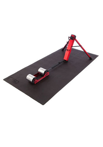 Feedback Sports Indoor Cycling Floor Mat with Omnium Portable Trainer