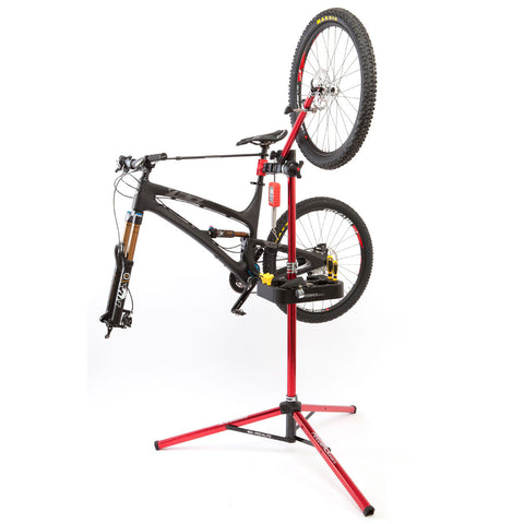 Feedback Sports Pro Truing Stand mounted on Repair Stand