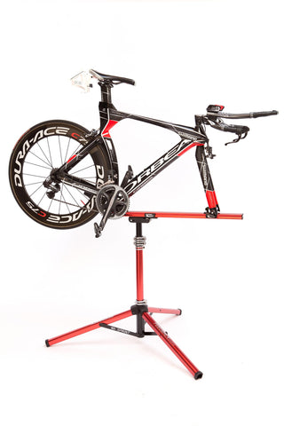 Feedback Sports Sprint Dropout-Style Bike Repair Stand with Road Bike Mounted on Front Axle