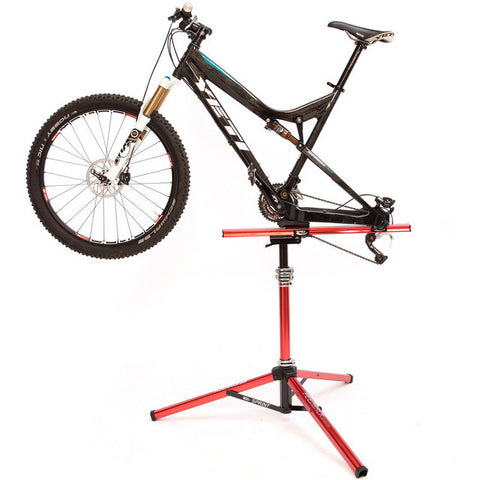 Feedback Sports Sprint Bicycle Repair Stand with MTB mounted on Rear Axle