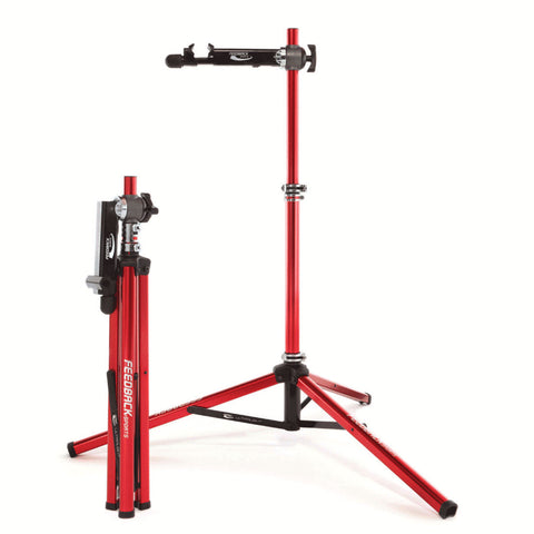 Feedback Sports Ultralight Bike Repair Stand Full Length and Folded