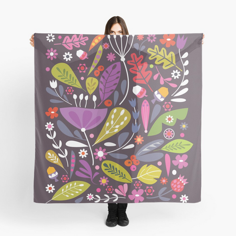 """Autumnal Things"" Art Scarf"