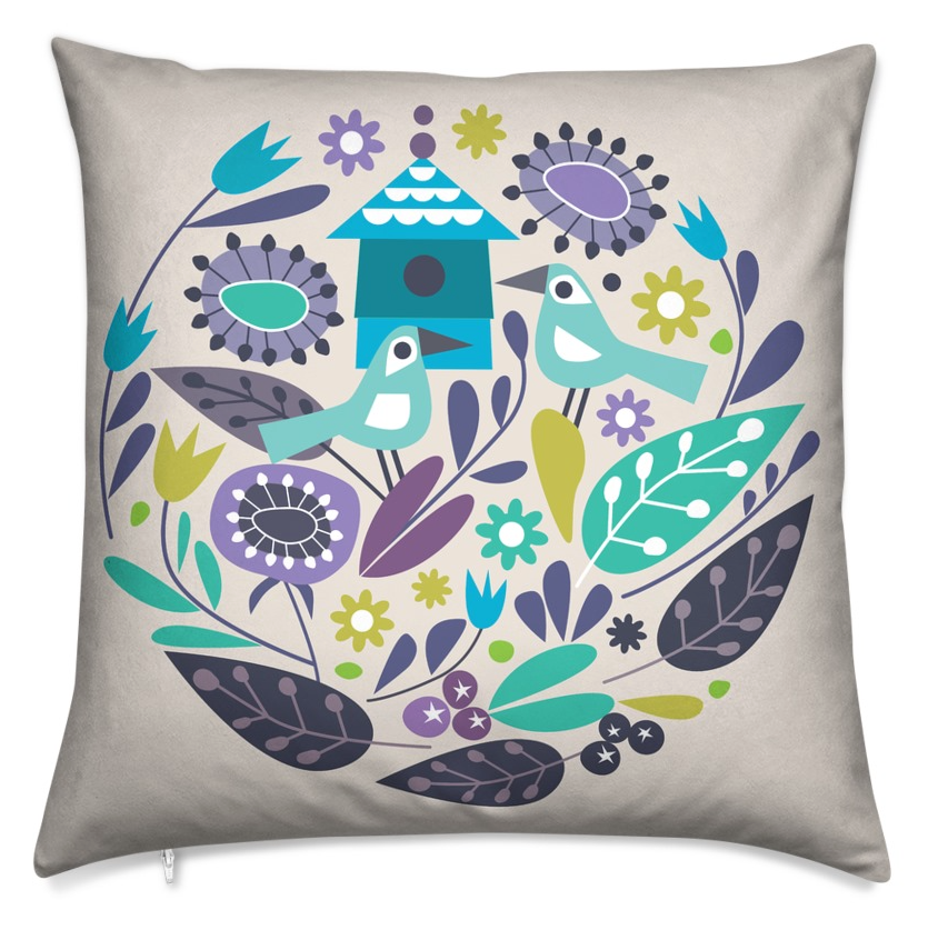 """Love Birds"" Cushion"