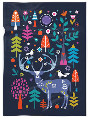 """PHOENIX PARK DEER"" FLEECE BLANKET"