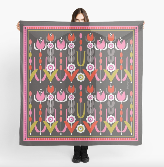 """Tulips"" Art Scarf"