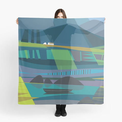 """Connemara Evening"" Art Scarf"