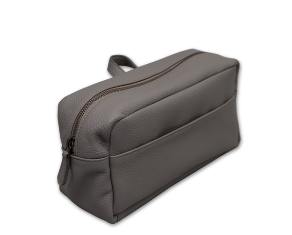 The Washbag: Surplus leather - Grey - One size