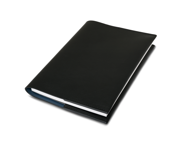 Leather Notebook - Black - A5