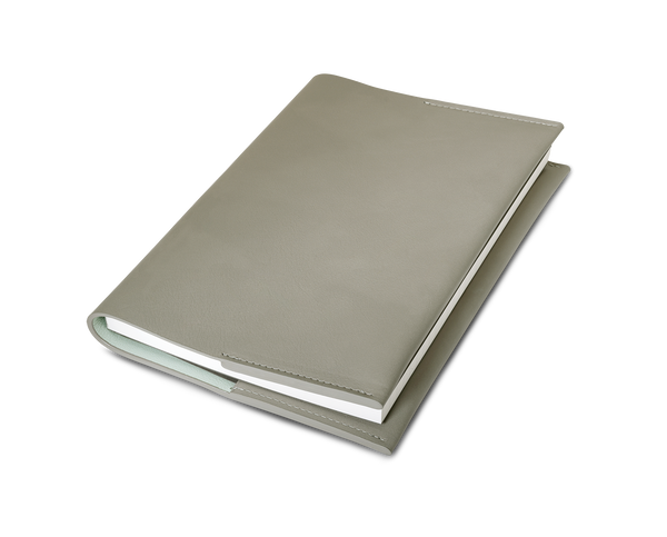 Leather Notebook - Dusty grey - A5