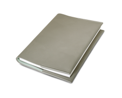 Leather Notebook - Dusty grey