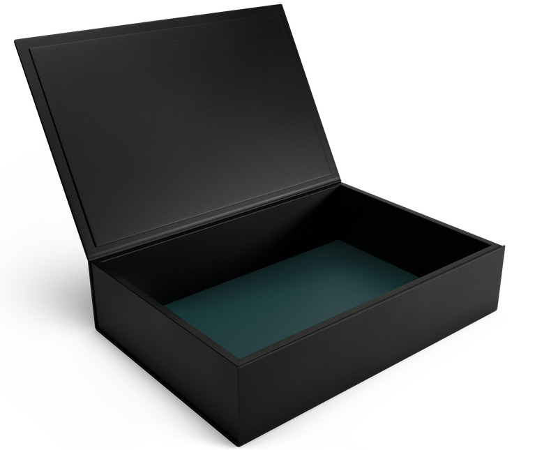 The Bookbox: Black Leather Box - Magnum | August Sandgren