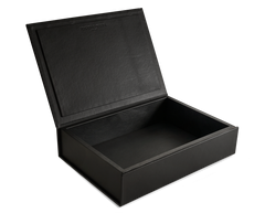 The Bookbox: Surplus leather - Black - Large