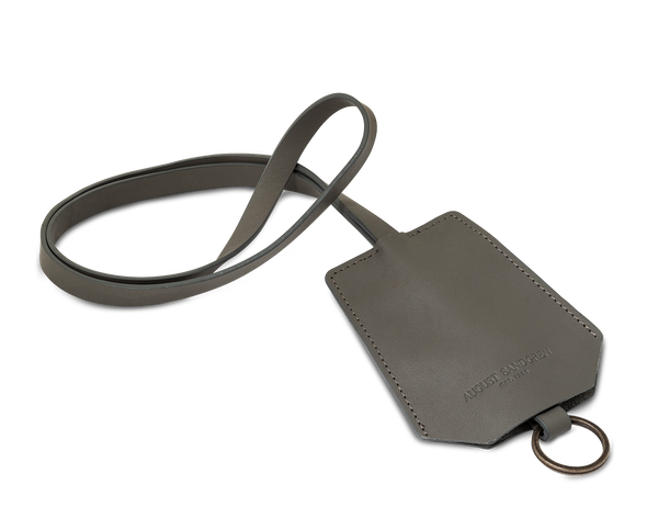 The Keyring: Leather - Grey - Long strap (45 cm)