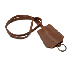 The Keyring: Leather - Cognac - Long strap (45 cm)