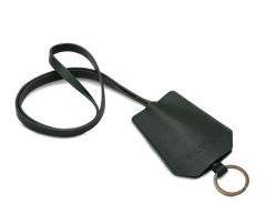 The Keyring: Leather - Dark Green - Long strap (45 cm)